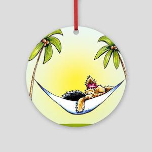 Yorkie Island Princess Ornament (Round)