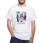 Wine Cartoon 9496 White T-Shirt