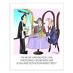 Wine Cartoon 9496 Small Poster