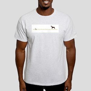 Solid Liver GSP on Chukar Light T-Shirt