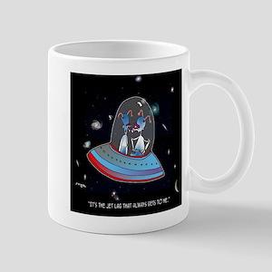 Jet Lag Cartoon 9492 11 oz Ceramic Mug