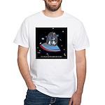 Jet Lag Cartoon 9492 White T-Shirt