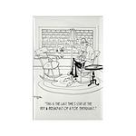 Edgar Allen Poe Cartoon Rectangle Magnet (10 pack)