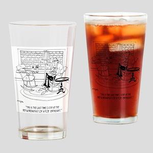 Edgar Allen Poe Cartoon 9485 Drinking Glass