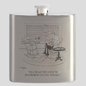 Edgar Allen Poe Cartoon 9485 Flask
