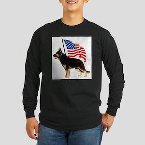 Patriotic German Shepherd Long Sleeve T-Shirt