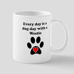 Westie Dog Day Small Mug