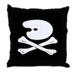 Artist's Jolly Roger Throw Pillow