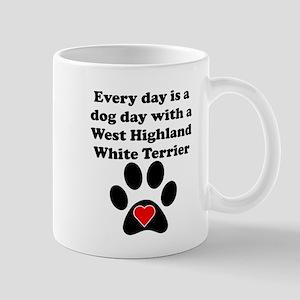 West Highland White Terrier Dog Day Small Mug