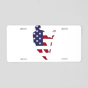 Lacrosse IRollMericaHorz Aluminum License Plate