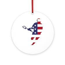 Lacrosse IRockMericaHorz Ornament (Round)