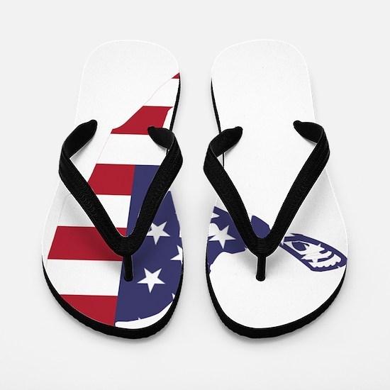 Lacrosse IRockMericaHorz Flip Flops