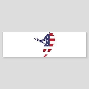 Lacrosse IRockMericaHorz Bumper Sticker