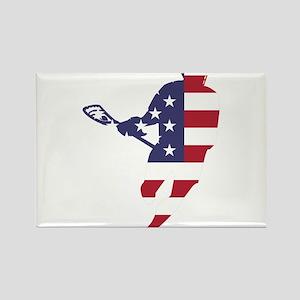 Lacrosse IRockMericaHorz Rectangle Magnet