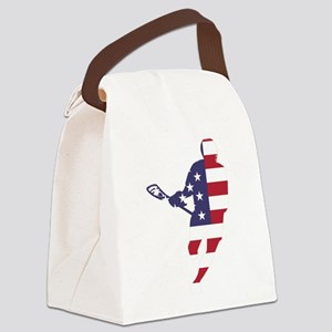 Lacrosse IRockMericaHorz Canvas Lunch Bag