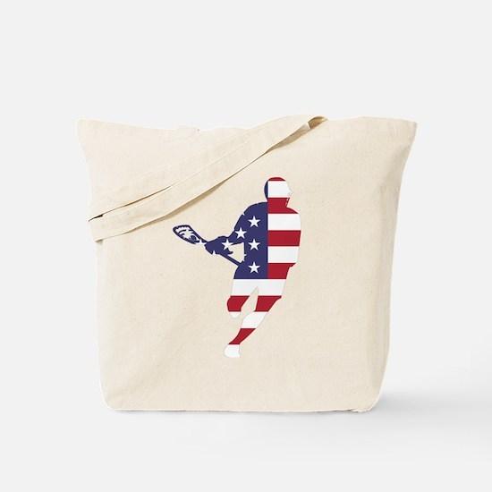 Lacrosse IRockMericaHorz Tote Bag