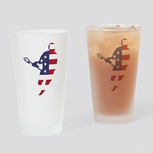 Lacrosse IRockMericaHorz Drinking Glass