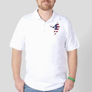 Lacrosse IRockMericaHorz Golf Shirt