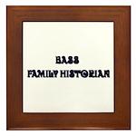 Bass Family Historian Framed Tile