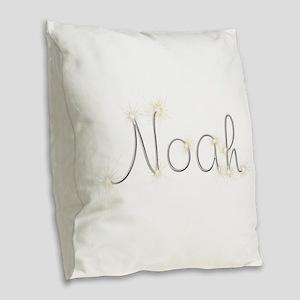 Noah Spark Burlap Throw Pillow