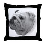 BULLDOG SMILES Throw Pillow