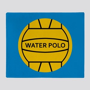 Water Polo Ball Throw Blanket