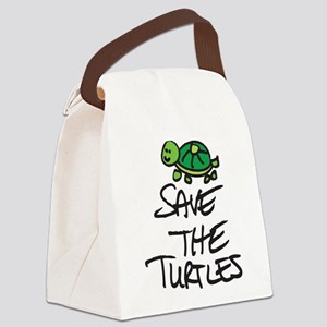 BABY TURTLE HATCHLING Canvas Lunch Bag