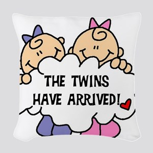 TWINSARRIVED3 Woven Throw Pillow