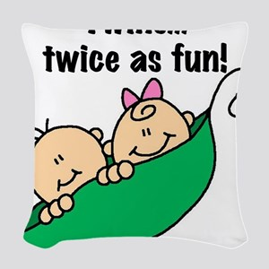 twinstwiceasfun23 Woven Throw Pillow