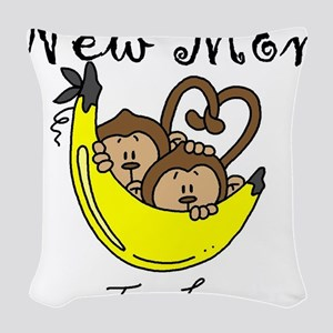 MONKEYTWINBOYSmomm Woven Throw Pillow