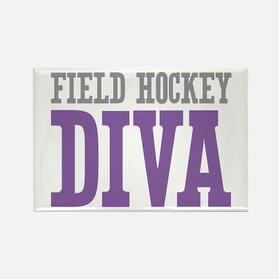 Field Hockey DIVA Rectangle Magnet