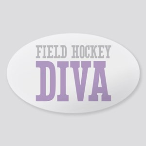Field Hockey DIVA Sticker (Oval)