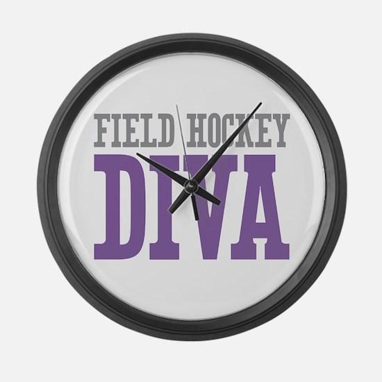 Field Hockey DIVA Large Wall Clock
