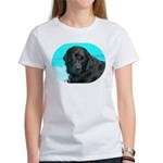 Black Lab image on Women's T-Shirt