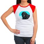 Black Lab image on Women's Cap Sleeve T-Shirt