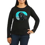 Black Lab image on Women's Long Sleeve Dark T-Shi
