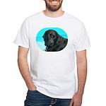 Black Lab image on White T-Shirt