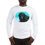 Black Lab image on Long Sleeve T-Shirt
