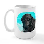 Black Lab image on Large Mug