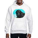 Black Lab image on Hooded Sweatshirt