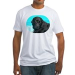 Black Lab image on Fitted T-Shirt