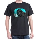 Black Lab image on Dark T-Shirt