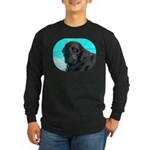 Black Lab image on Long Sleeve Dark T-Shirt