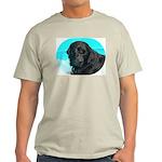 Black Lab image on Ash Grey T-Shirt