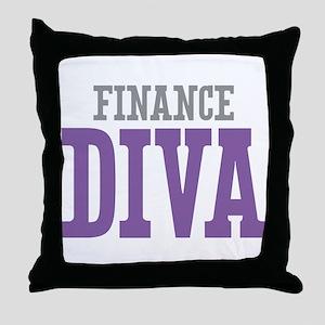 Finance DIVA Throw Pillow