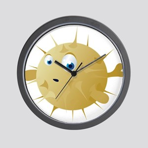 Cartoon Puffer Fish Wall Clock