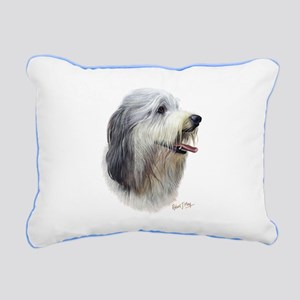 Bearded Collie Rectangular Canvas Pillow