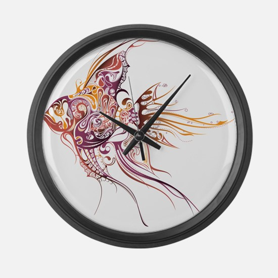 Fancy Fish Large Wall Clock
