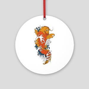 Fancy Koi Ornament (Round)