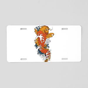 Fancy Koi Aluminum License Plate